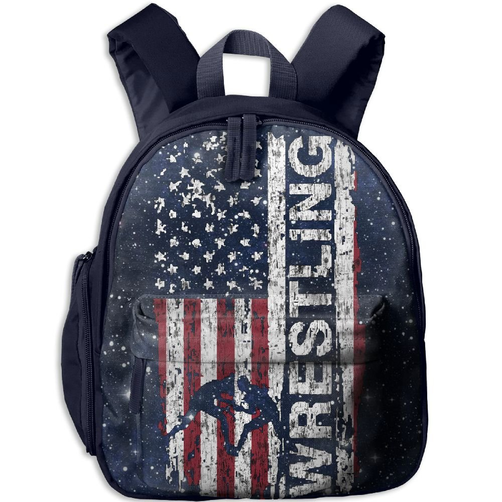 Usa Flag Wrestling Toddler Kids Backpack Preschool Backpack Navy Mini Backpack
