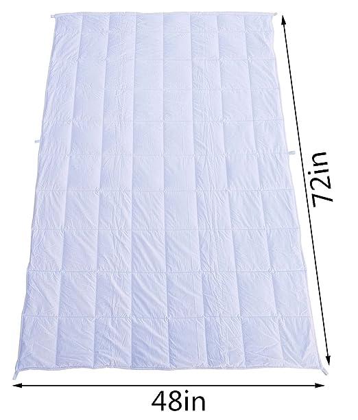 Peso manta kpblis Heavy sensorial manta sueño más rápido y dormir mejor para niños y adultos: Amazon.es: Hogar