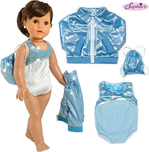 "Blue Sleeveless Gymnastics Leotard fits 18/"" American Girl Size Doll"