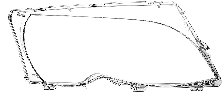 BMW 3 Series E46 2001-2005 LCI Headlight Lenses Plastic Covers Left+Right PAIR OEM MAGNETI MARELLI