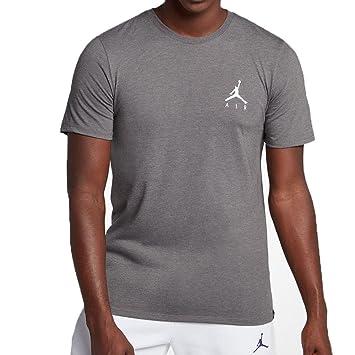 Nike Jmpmn Air Embrd Camiseta de Manga Corta, Hombre, Carbon ...