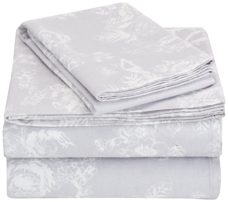 Pinzon 170 Gram Flannel Sheet Set Navy Paisley Twin XL