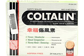 Amazon Com Fortune Coltalin Cold Tablets Adults Solstice