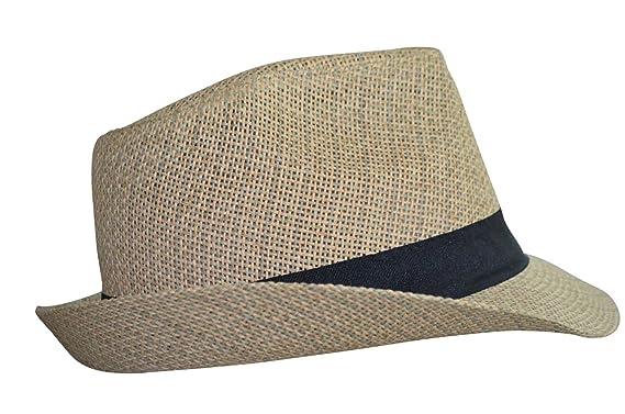 fd5daf055383 Chapeau - Borsalino - Trilby - Mixte - été (Beige) - 58 cm  Amazon.fr   Vêtements et accessoires
