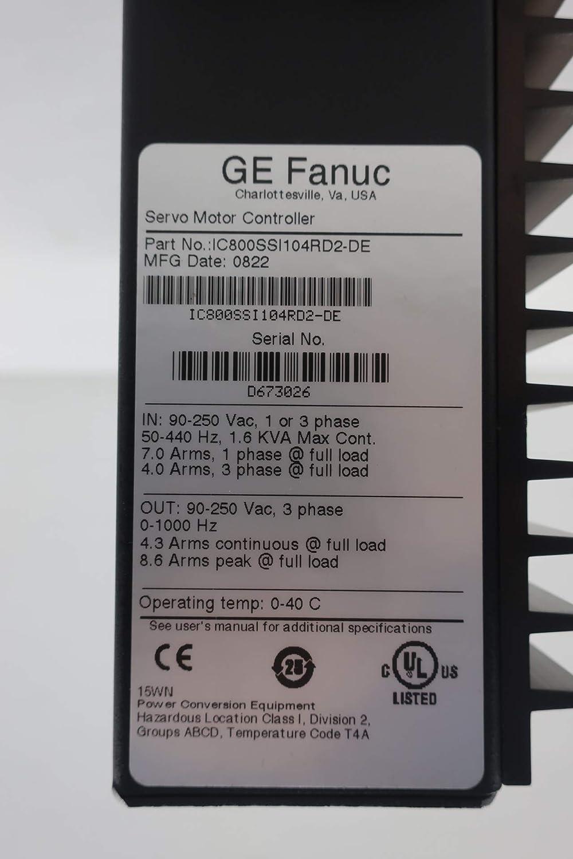 GE FANUC IC800SSI104RD2-DE SERVO Motor Controller SER S2K