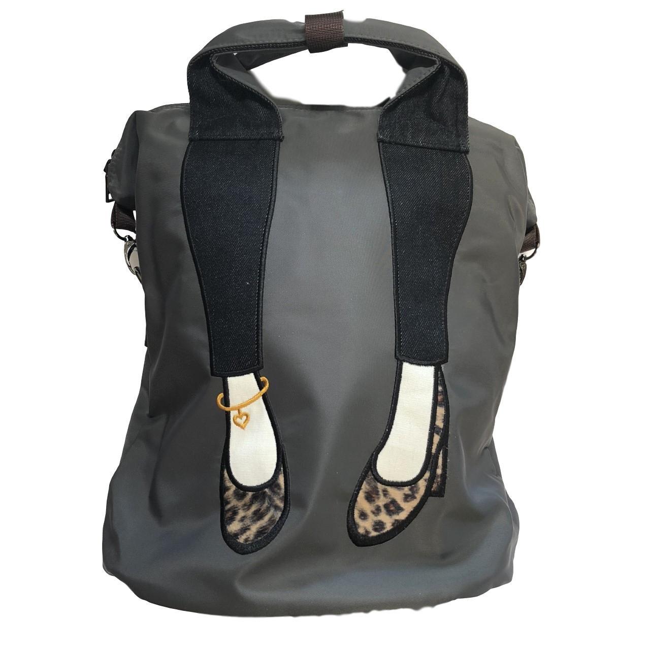 Love My Shoes Trendy Leopard Shoe Laptop Backpack Travel Bag