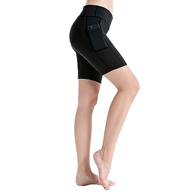 b575604c1f Women's Ladies Yoga Sports Pocket Short Pants Fitness Running Jogger Trouser .