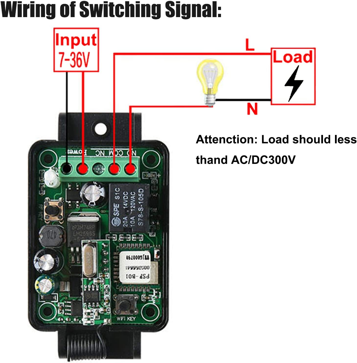433mhz 1 Channel 2.4g Wifi Rf Remote Control Relay For Home Appliances  Camera & Photo