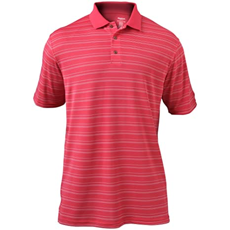 Reebok Big & Tall Play Dry Polo de Rayas, XXXXXX-Large, Rosado ...