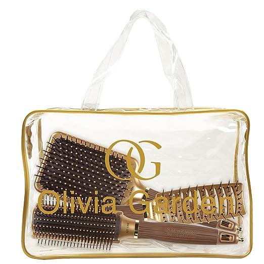 Amazon.com : Olivia Garden Ceramic + Ion Nano Thermic Styler 3-PC Bag (S9R, VTS, PDL) : Beauty