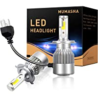 LED Headlight Bulbs Headlight bulb H4 9003 Hi/Low All-in-One Conversion Kit Led headlights with COB Chips 8000 Lm 6500K…