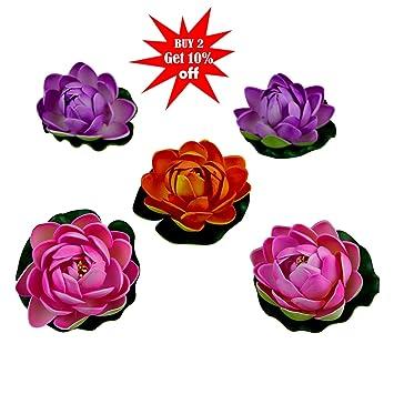 Buy Fancy Mart Decorative Water Floating Lotus Flowers Set Of 5