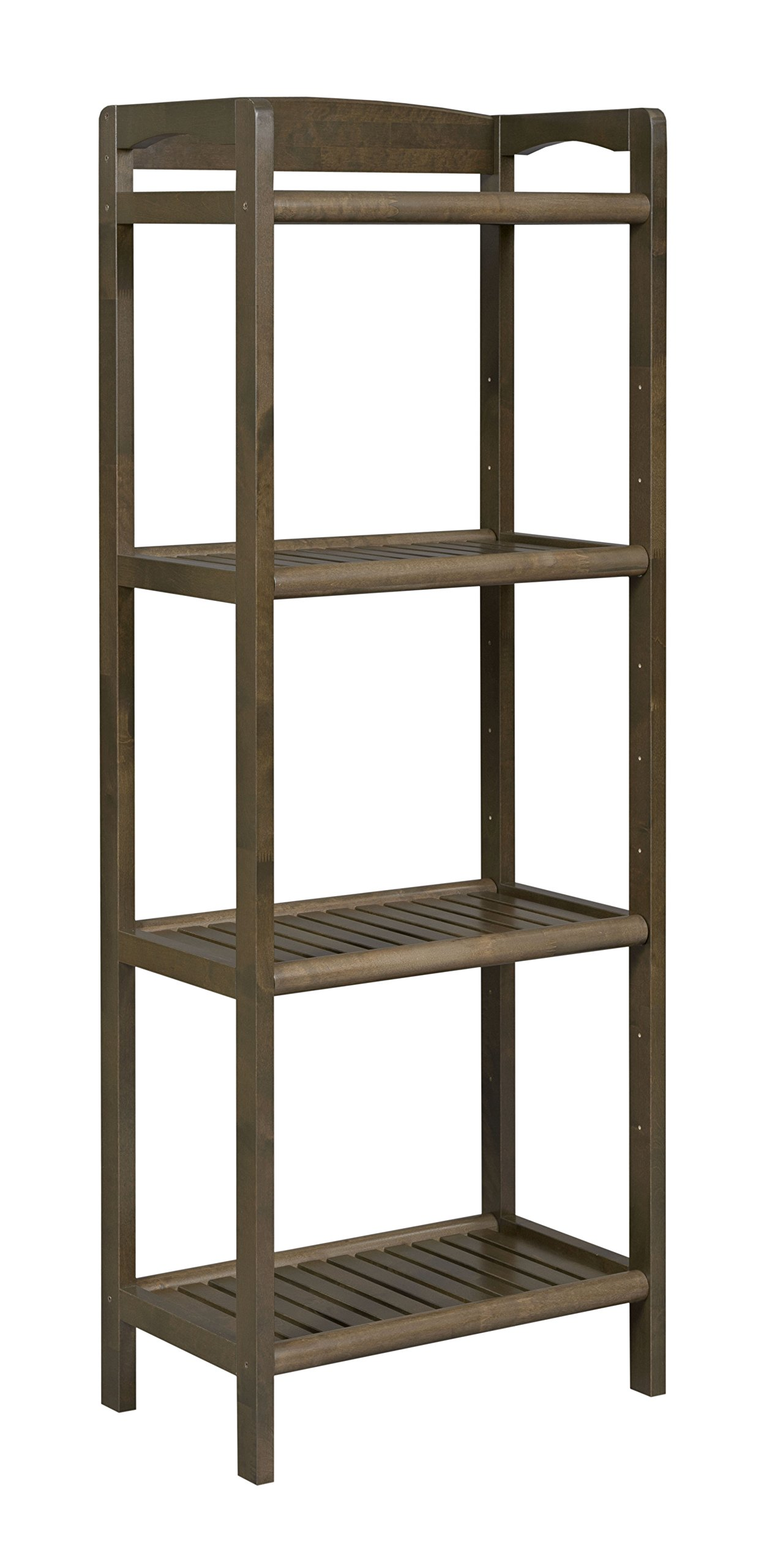 New Ridge Home Goods 2282-CHS Abingdon Tall Bookcase/Media Tower with Adjustable Shelves, One Size, Antique Chestnut by New Ridge Home Goods