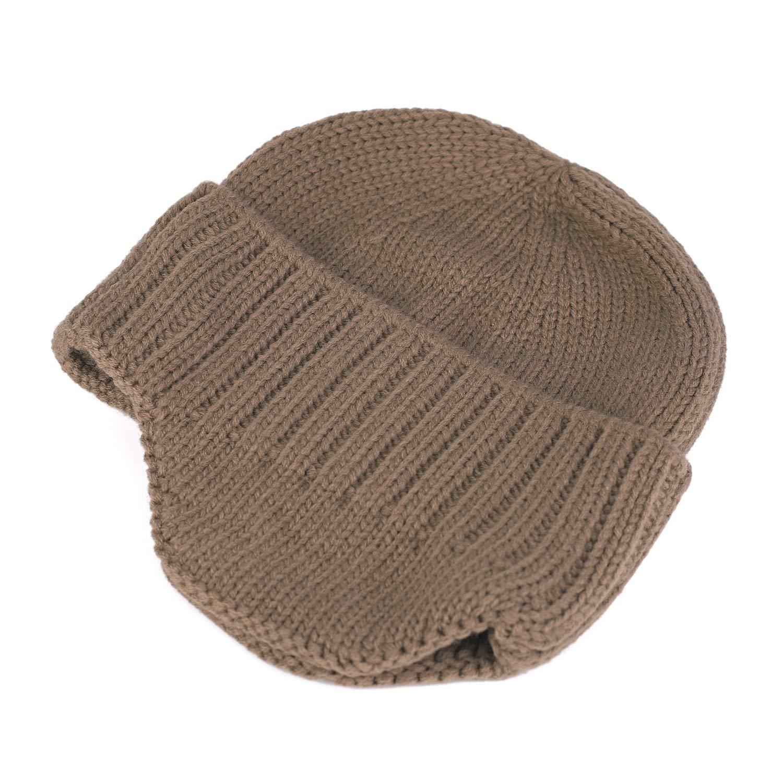 Flammi Men Warm Knit Earflap Beanie Hat Cuffed Beanie