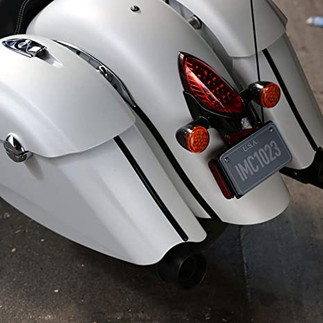 Indian Motorcycle Front and Rear Fender Trim in Black Pair 2880730