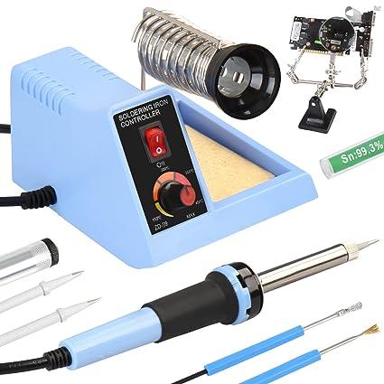 Jago - Estación de soldadura - soldador eléctrico de punta con accesorios - potencia 48 W