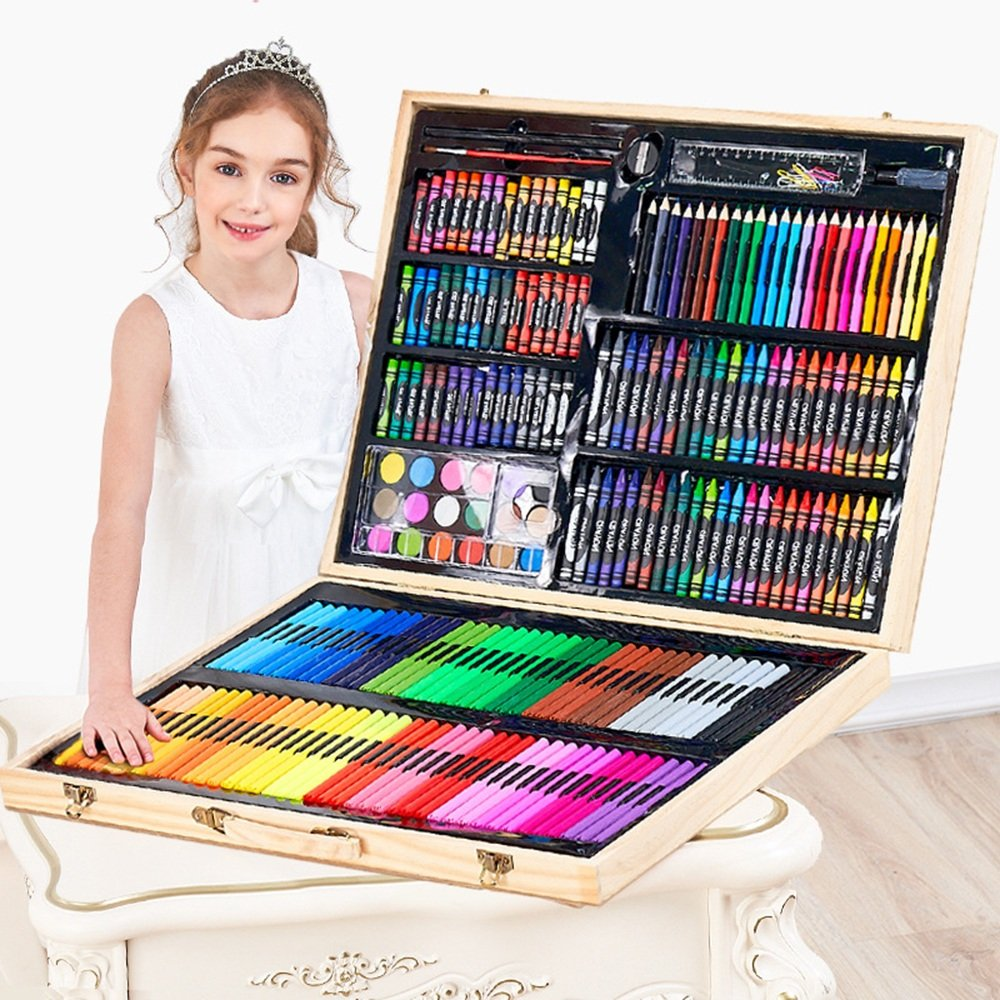Artist art drawing set, 251 Wooden Paintings For Art Objects Such As Coloring, Art, Drawing, Calligraphy, Manga, Painting, Etc. - A Great Gift For Children And Adults Gifts for children and children. by JIANGXIUQIN (Image #4)