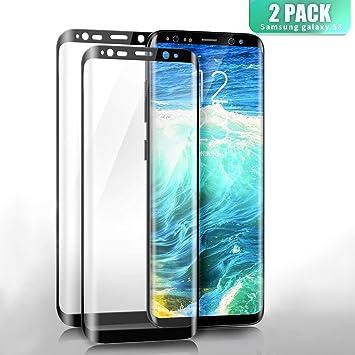 SGIN Protector de Pantalla de Cristal Templado Galaxy S8 ,[2 Pack] 9H Dureza
