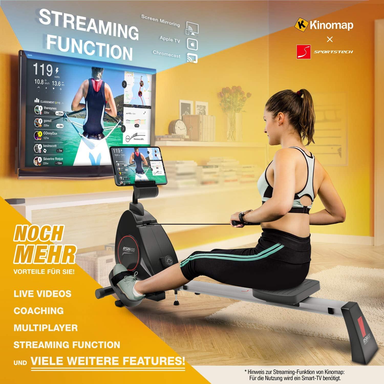 Máquina de remo para el hogar RSX400 de Sportstech, con aplicación ...