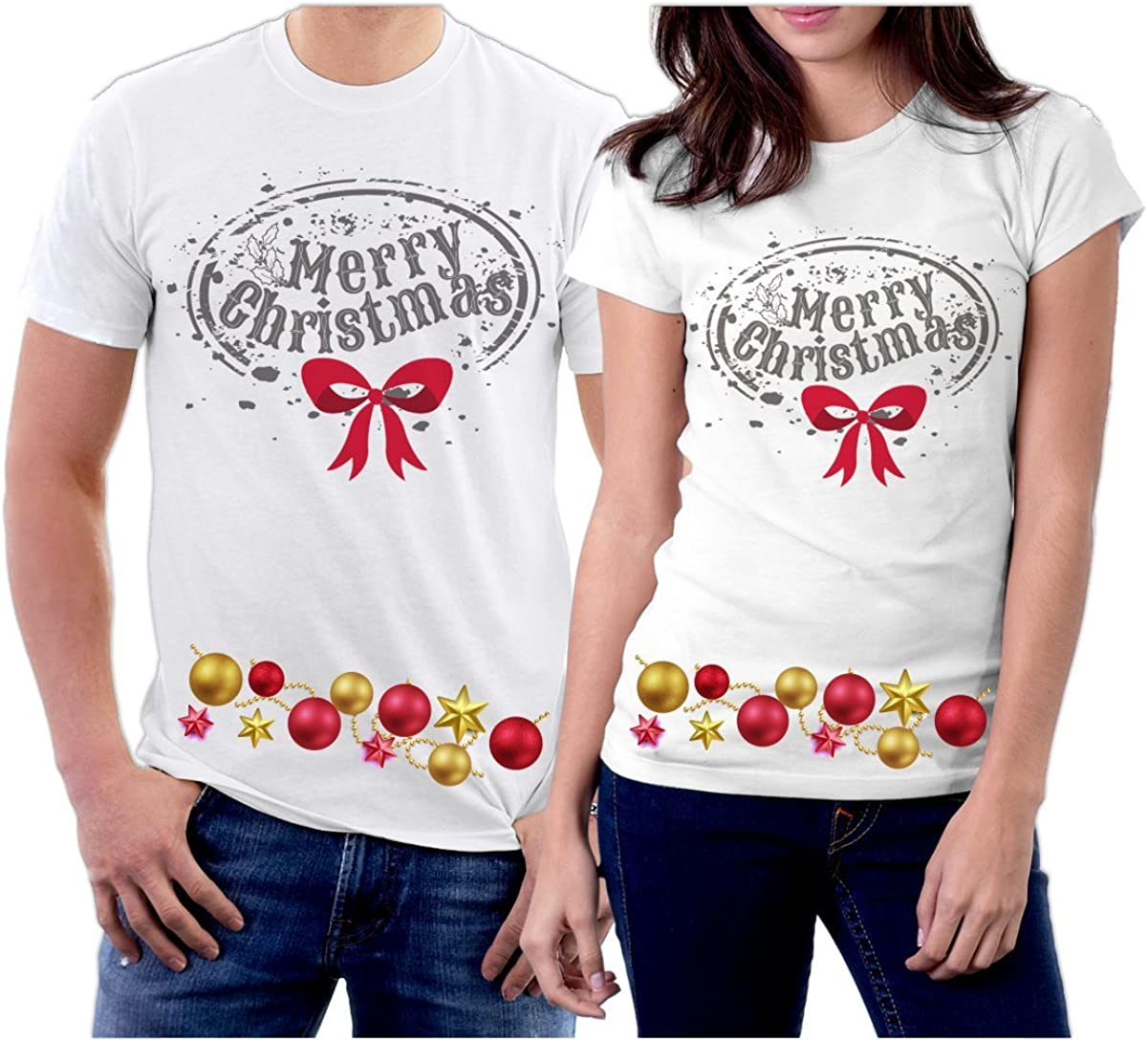 picontshirt Winter Christmas T-Shirts Collection Style 08 for Couple