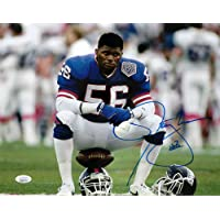 $129 » New York Giants Lawrence Taylor Takes a Break During Super Bowl 25 Autographed 11x14 Photograph Picture sit