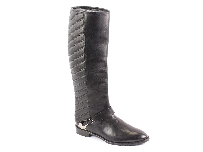 Stuart Weitzman Raceway Tall Quilted Boots, Black, 6.5