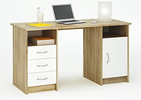 Abitti scrivania da studio cm in rovere per pc ufficio