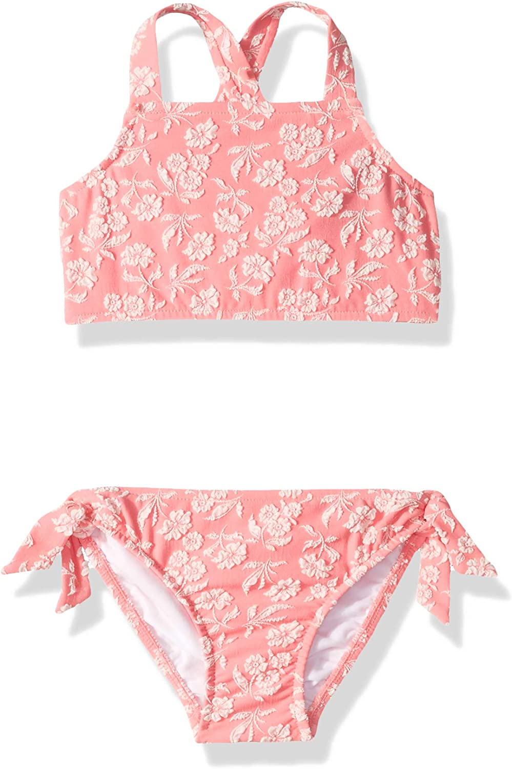 Seafolly Girls Apron Front Tankini Swimsuit Set with Criss Cross Straps