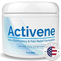 Activene Arnica Gel Cream - with Menthol and MSM. Pain Relief for Joint, Tendon, Muscle Ache. Chosen by Sufferers of Arthritis, Fibromyalgia, Plantar Fasciitis, Knee, Shoulder, Neck, Back Pain 3 Ounce