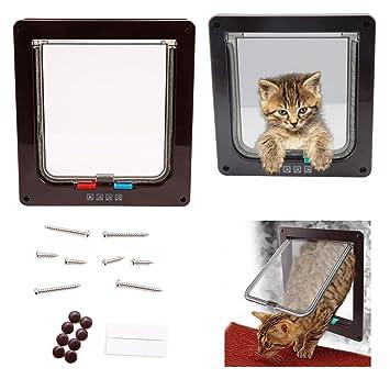 Puerta de gato perro etuer gato solapas Perros Tapa Tuer Tapa 4 Vías 23 x 25