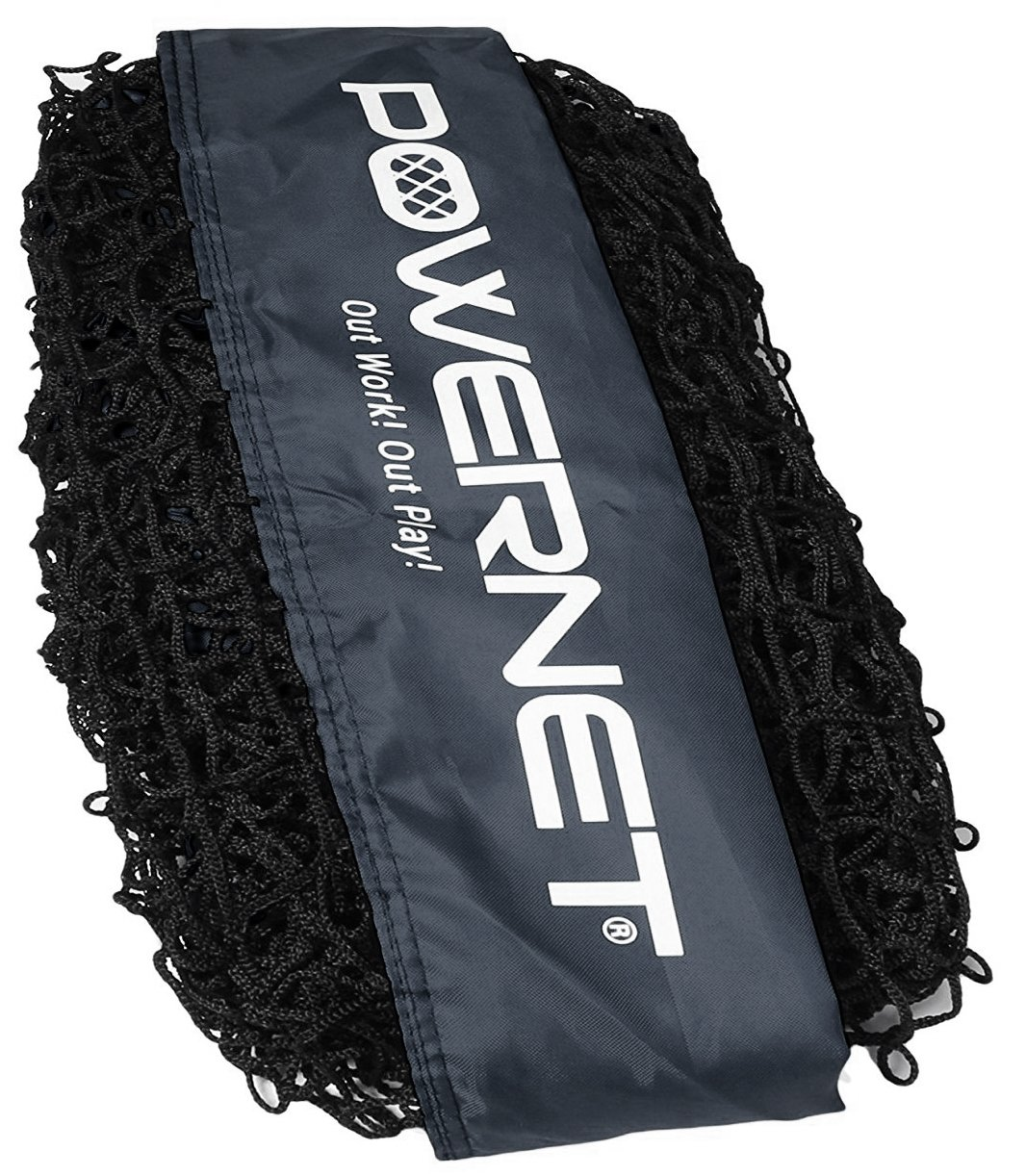 PowerNet Team Color Nets Baseball and Softball 7x7 Bow Style (NET ONLY) Replacement | Team Colors | Heavy Duty Knotless | Durable Black PU Coated Polyester | Double Stitched Seams for Extra Strength by PowerNet
