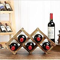 HUAVIN Botellero de Madera Plegable Estante del Vino