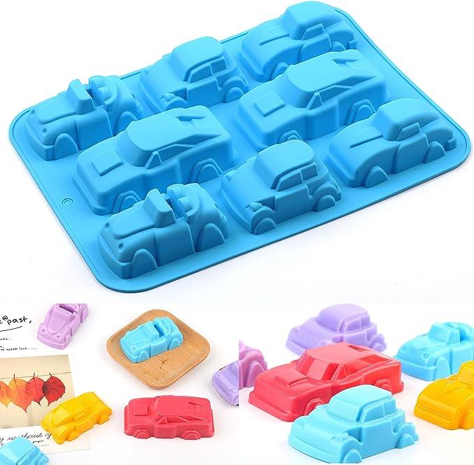 PONECA - Molde de silicona para tartas y jabón de 8 cavidades para ...