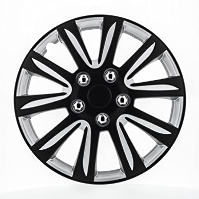 Pilot WH546-15B-BS Universal Fit Premier Toyota Camry Style Black 15 Inch Wheel Covers - Set of 4: Automotive