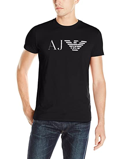 de43c4b0 Amazon.com: Armani Jeans Men's Eagle T-Shirt, Black, Large: Clothing