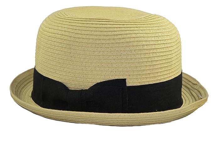 Epoch Women s Summer Cloche Bucket Bow Upturn Fedora Hat S m Natural ... 5b9764105421