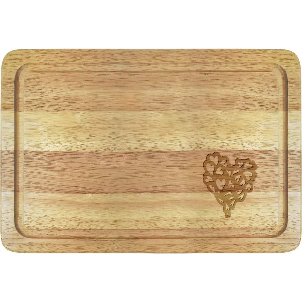 Azeeda Herz der Herzen Holzbrett WB00012372 Küchenhelfer & Kochzubehör Brotbretter