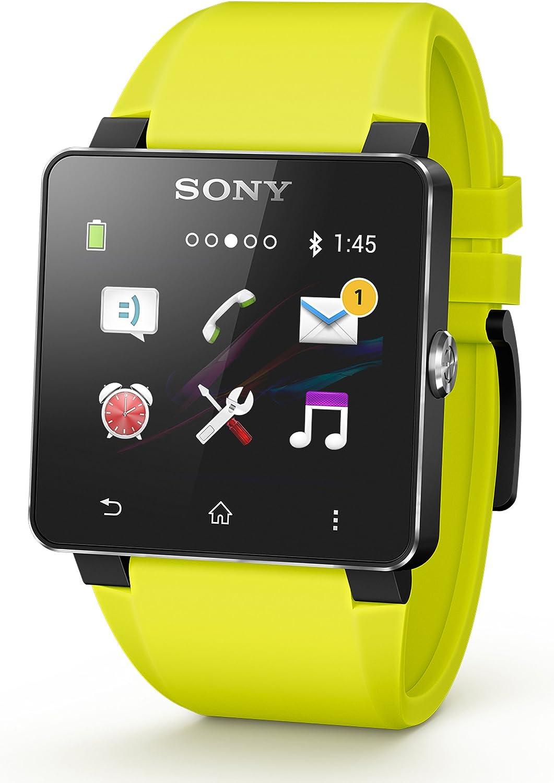 Sony SE20 - Correa para Sony Smartwatch 2, color amarillo: Amazon ...
