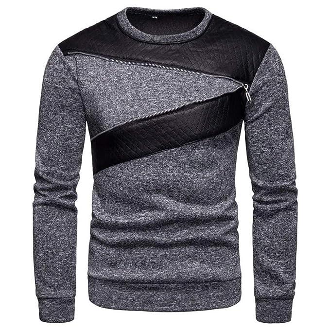 Battnot Herren Pullover O Ausschnitt, Männer Fashion Casual