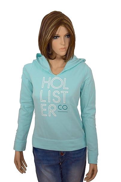 Hollister - Sudadera - para mujer azul claro S: Amazon.es: Ropa y accesorios