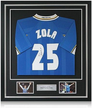 Gianfranco Zola Chelsea Firmado 1998 maillot Europea Recopa, lujo ...