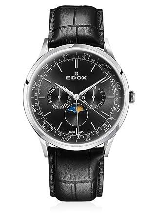 Edox 40101 3C NIN - Reloj de Pulsera para Caballeros (Mecanismo de Cuarzo, analógico