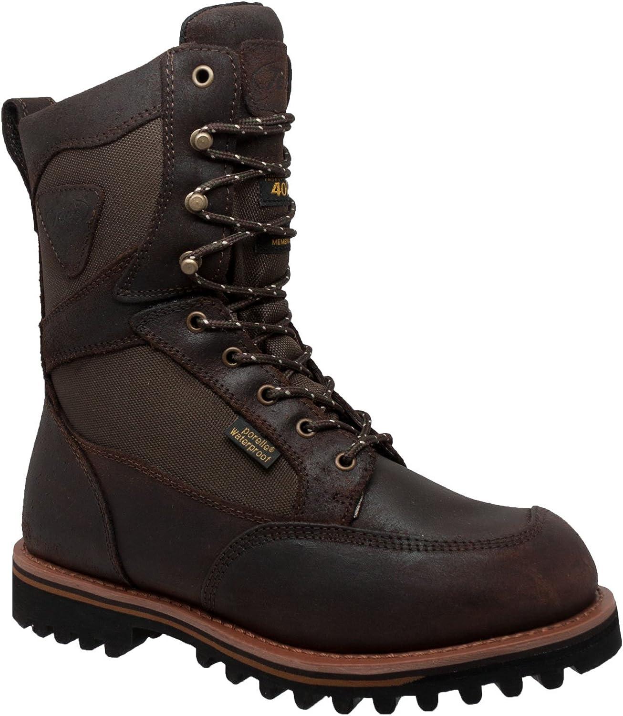 Ad Tec Mens 6 Dark Waterproof Work Boot Steel Toe Dark Brown 11 EE