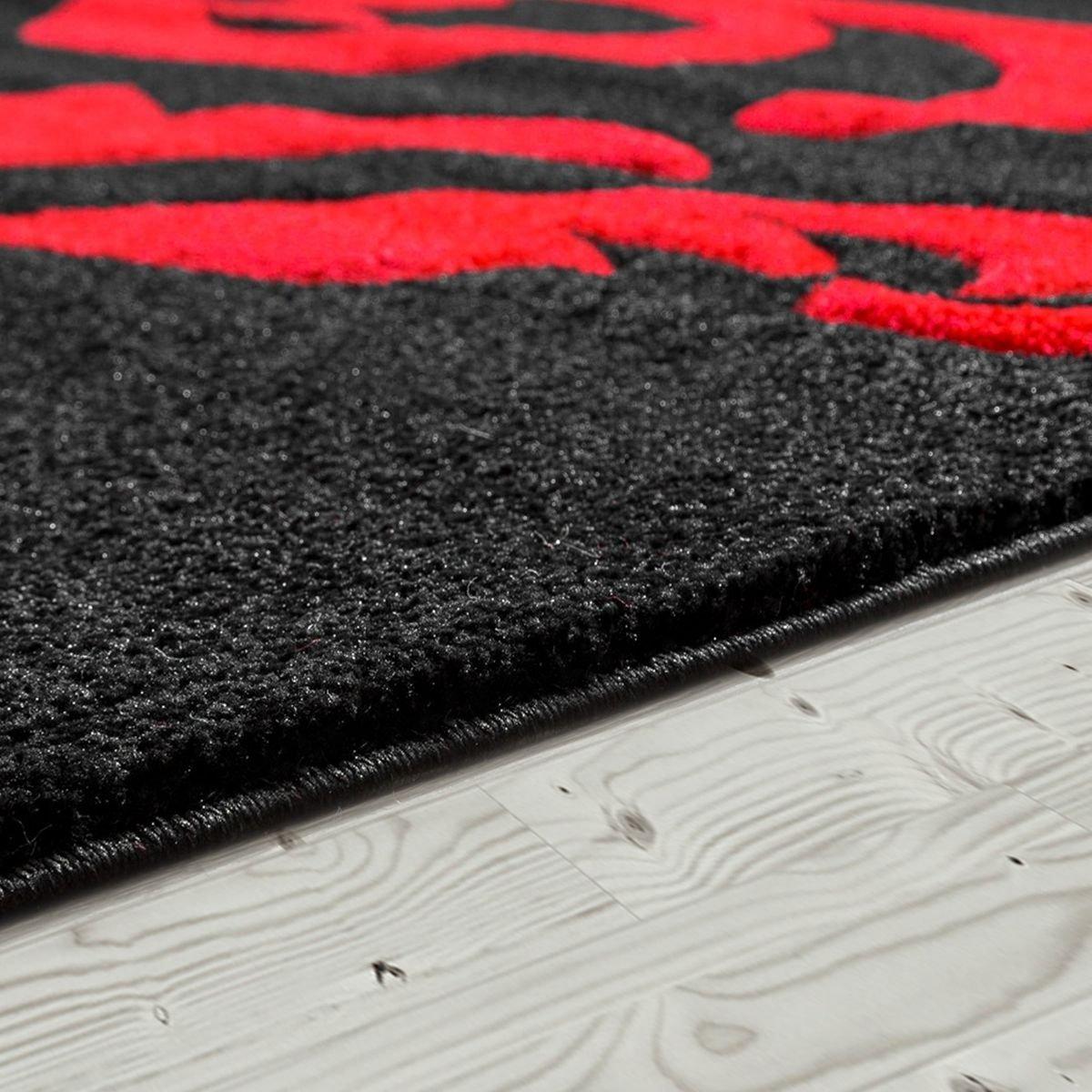 Designer Teppich Wohnzimmerteppich Levante Modern mit Floral Muster Weiß Schwarz