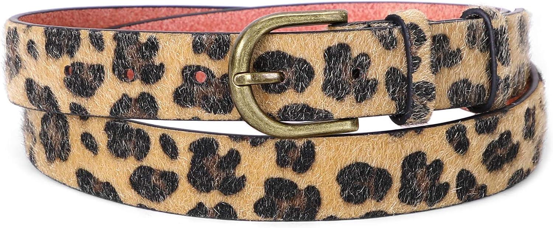 Leopard Print Leather Belt...