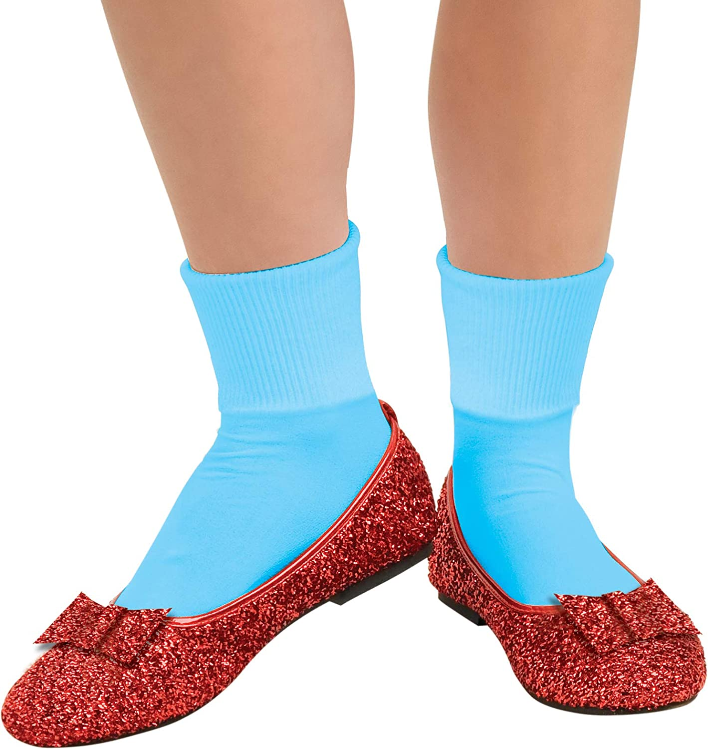 Red L Rubie's Official Dgoldthy Red Glitter shoes Small Wizard of Oz, Adult Costume