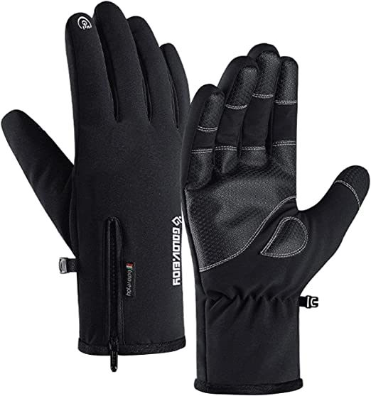 Men Women Winter Touch Screen Windproof Waterproof Outdoor Cycling Warm Gloves