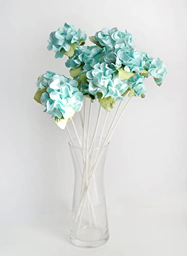 Amazon plawanature set of 6 light blue hydrangea mulberry paper plawanature set of 6 light blue hydrangea mulberry paper flower with reed diffuser for home fragrance mightylinksfo