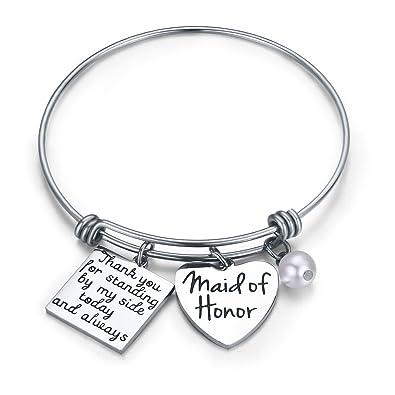 Amazon.com: Udobuy Maid of honor Bracelet, Wedding Gift, Bridesmaid ...