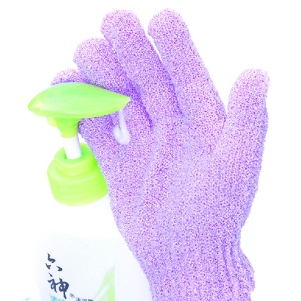 4Pcs Shower Gloves,Minshao Body Massage Cleaning Exfoliating Wash Skin Spa Bath Gloves Foam Bath Skid Resistance Loofah Scrubber